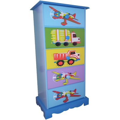 Liberty House Toys Transport 5 Drawer Chest of Drawers
