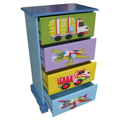 Liberty House Toys Transport 4 Drawer Chest of Drawers