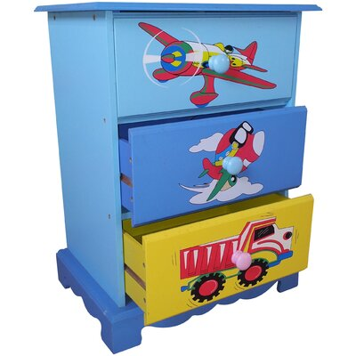 Liberty House Toys Transport 3 Drawer Chest of Drawers