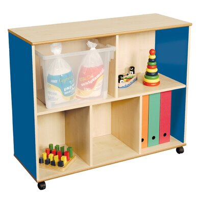 Liberty House Toys Primary Coloured Mix and Match Straight 83.5cm Cube Unit