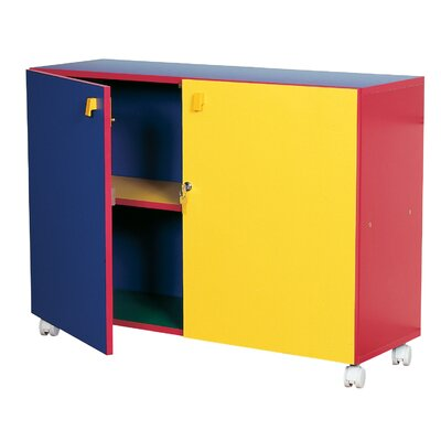 Liberty House Toys Primary Coloured Small Mobile Cupboard
