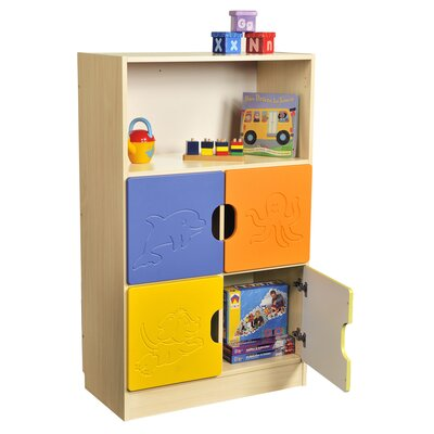 Liberty House Toys Novo 5 Section Storage Unit with 1 Shelf and 4 Small Doors