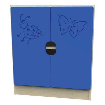 Liberty House Toys Novo Ladybird 4 Shelf Unit with 2 Large Doors