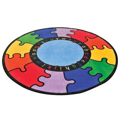 Liberty House Toys ABC Rainbow Multi-Coloured Area Rug