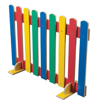 Liberty House Toys 70cm x 102.5cm Primary Coloured Picket Fence 1 Panel Room Divider