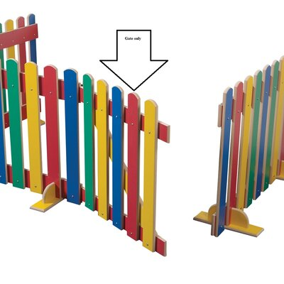 Liberty House Toys 70cm x 65cm Primary Coloured Picket Gate Unit 1 Panel Room Divider