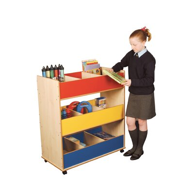 Liberty House Toys Primary Coloured 99cm Book Cart
