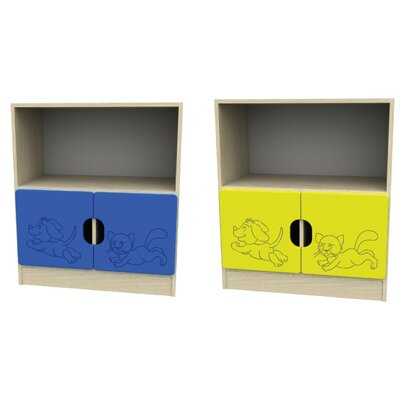 Liberty House Toys Novo 3 Section Storage Unit with 2 Small Door