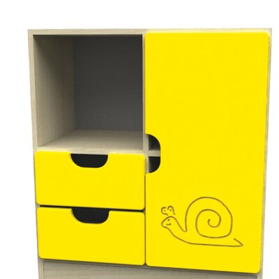 Liberty House Toys Novo 4 Section Storage Unit with Large Door