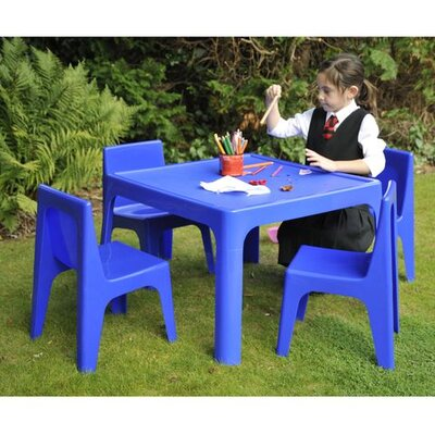 Jolly Kidz Children's 5 Piece Square Table and Chair Set