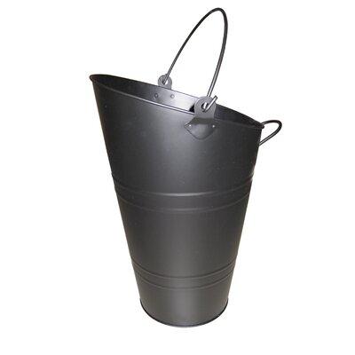 Crannog Metal Coal Bucket in Black