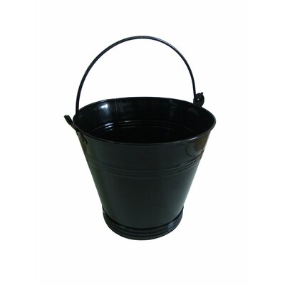 Crannog Log Holder Metal Pail in Black