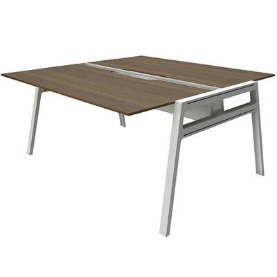 """Bivi Writing Desk Base Finish: Arctic White, Top Finish: Blackwood, Surface Size: 30"""" x 60"""""""