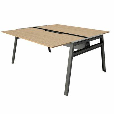 "Bivi Writing Desk Base Finish: Midnight Metallic, Top Finish: Warm Oak, Surface Size: 30"" x 48"""