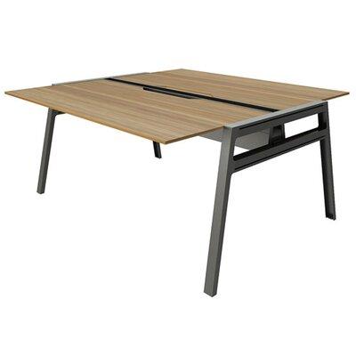 "Bivi Writing Desk Base Finish: Midnight Metallic, Top Finish: Virginia Walnut, Surface Size: 30"" x 60"""