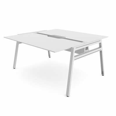 "Bivi Writing Desk Base Finish: Arctic White, Surface Size: 30"" x 60"", Top Finish: Arctic White"