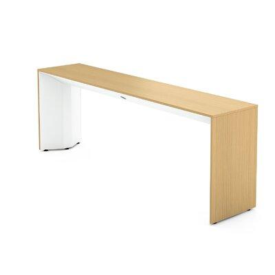 Campfire Slim Console Table Color: Arctic White, Laminate Finish: Warm Oak