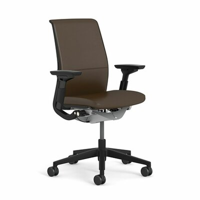 Think Leather Executive Chair Upholstery: Steelcase Leather - Black (L107), Frame Finish: Platinum Metallic (4799)