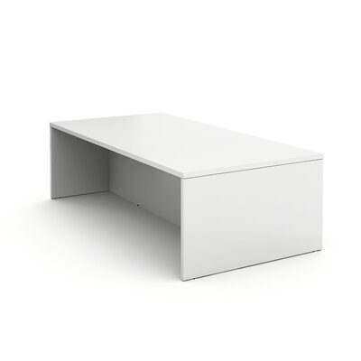 """Campfire Rectangular Conference Table Finish: Arctic White, Size: 40"""" H x 96"""" W x 48"""" D"""