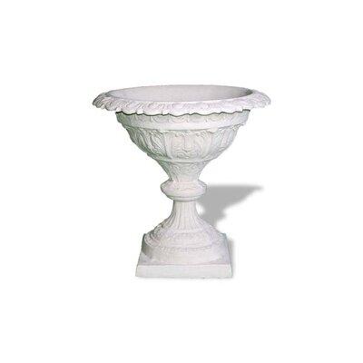 Compote Resin Stone Urn Planter Color: Limestone, Drain Hole: Drain Hole