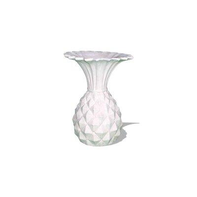 Pineapple Resin Stone Urn Planter Color: Limestone, Drain Hole: Drain Hole