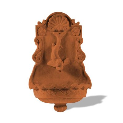Polystone Dolphin Wall Fountain Color: Terra Cotta