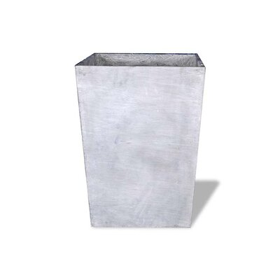 """Side Tapered Resin Stone Pot Planter Color: Terra Cotta, Size: 32"""" H x 26"""" W x 28"""" D, Drain Hole: Drain Hole"""