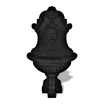 ResinStone Asian Wall Fountain Color: Black
