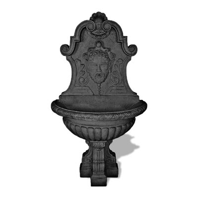 ResinStone Asian Wall Fountain Color: Charcoal