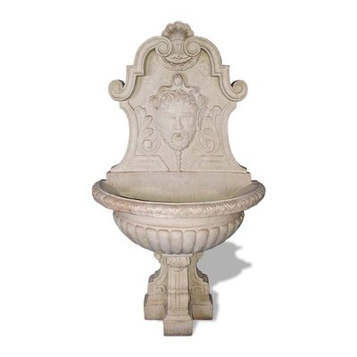 ResinStone Asian Wall Fountain Color: Limestone