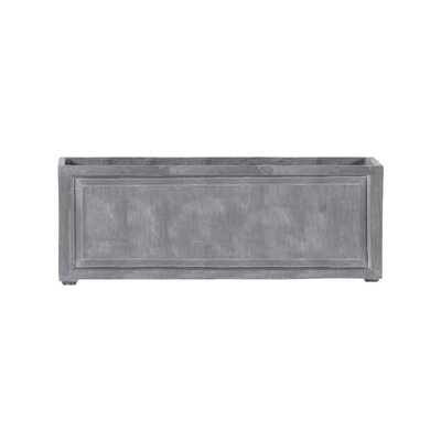 """Recessed Panel Resin Stone Planter Box Color: Lead Gray, Size: 24"""" H x 24"""" W x 96"""" D, Drain Hole: Drain Hole"""