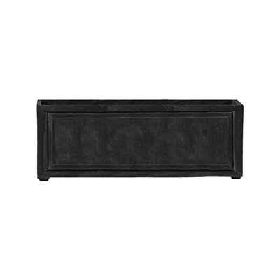 """Recessed Panel Resin Stone Planter Box Color: Charcoal, Size: 24"""" H x 24"""" W x 72"""" D, Drain Hole: Drain Hole"""