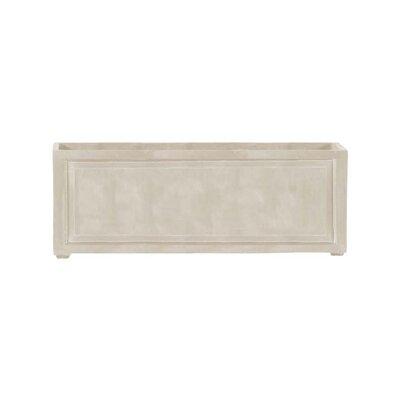 "Recessed Panel Resin Stone Planter Box Color: Limestone, Size: 24"" H x 24"" W x 72"" D, Drain Hole: No Drain Hole"