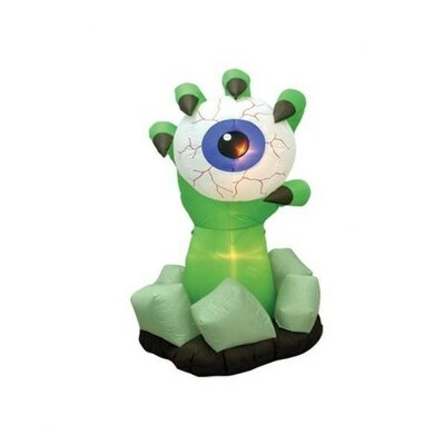 Halloween Inflatable Monster Hand with Eyeball Decoration Color: Blue Eye