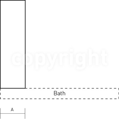 Simpsons Supreme 128cm x 21cm Bath Screen