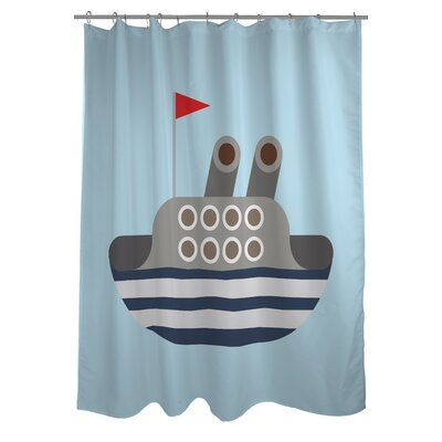 Boat Woven Polyester Shower Curtain