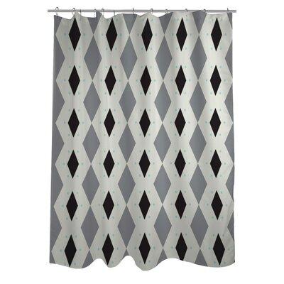 Diamond Dots Geometric Woven Polyester Shower Curtain