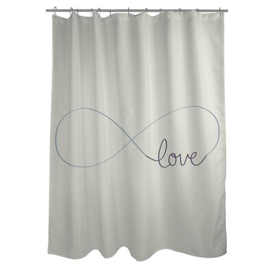 Infinite Love Woven Polyester Shower Curtain