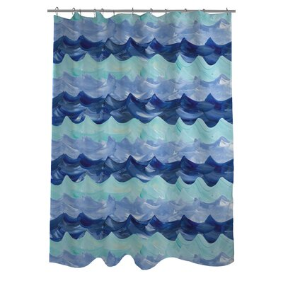 Water Waves Shower Curtain