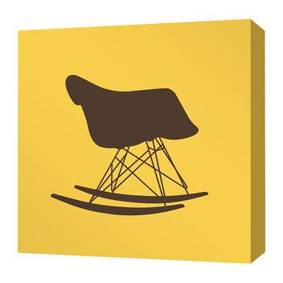 Inhabit Modern Classics 1948 Stretched Graphic Art on Wrapped Canvas in in Yellow