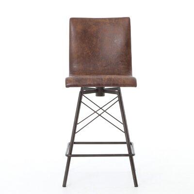 "Tiana 29""Swivel Bar Stool Upholstery: Brown"