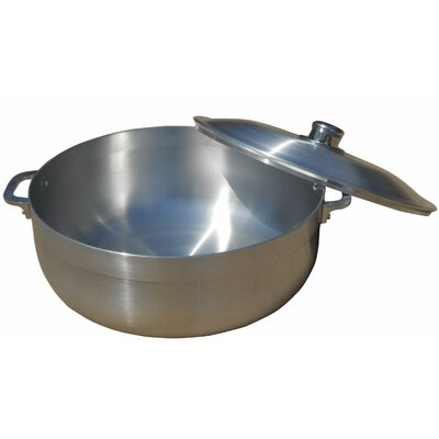 """Stock Pot with Lid Size: 5"""" H x 16"""" W x 13"""" D"""