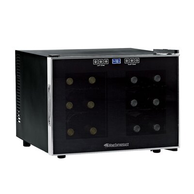 Wine Enthusiast Silent 12 Bottle Dual Zone Wine Refrigerator