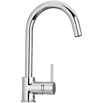 Jewel Faucets J25 Kitchen Series Single Hole Kitchen Faucet with Goose Neck Spout