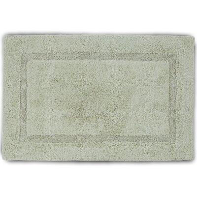 """Basic Bath Rug Color: Soft Jade, Size: 17"""" W x 24"""" L"""
