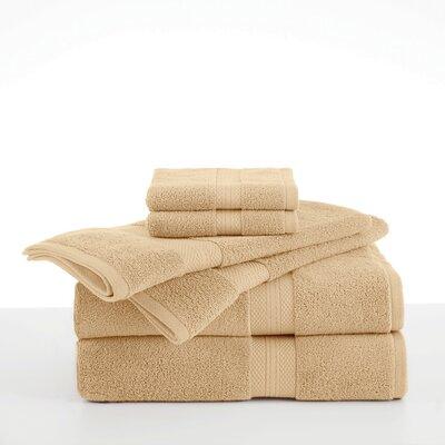 Abundance 6 Piece Towel Set Color: Wheat
