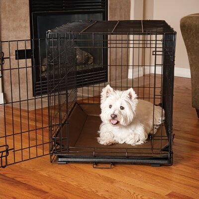 "Odor-Control Crate Pad Cover Size: 0.5"" H x 54"" W x 37"" D, Color: Gray"