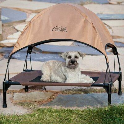 "Pet Cot Canopy Bed Accessory Size: Large (28"" H x 30"" W x 42"" L), Color: Tan"