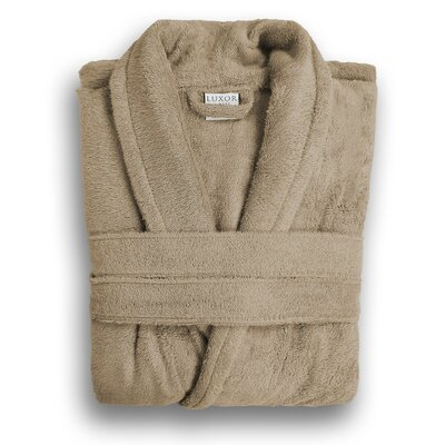 Anini Rayon from Bamboo and Cotton Spa Bath Robe Color: Sandstone