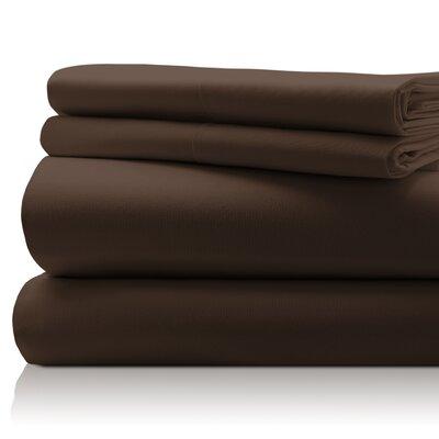 San'T Agnello Hotel 4 Piece Egyptian Quality Cotton Sheet Set Color: Mocha, Size: Queen